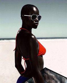 "#BlackGirlMagic  Kaone Kario @kaonekario from Botswana by Robert Grischek @grischek  Check it --> http://www.afropunk.com/photo/blackgirlmagic-kaone-kario-from-botswana ""Black Neon"" - Feed Magazine"