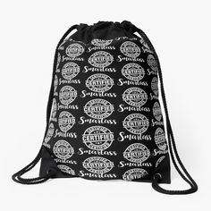 Drawstring Bags, Color Patterns, Backpacks, Tote Bag, Humor, Printed, Stylish, Awesome, Stuff To Buy