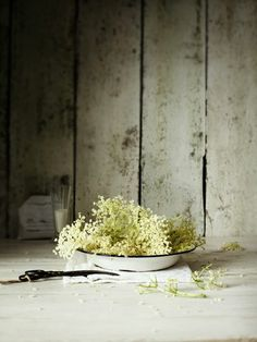 In season - June, elderflower
