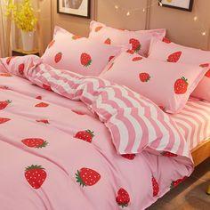Luxury Bedding Sets On Sale Code: 5744533536 Bed Sheet Sets, Bed Sheets, Kawaii Bedroom, Black Bed Linen, Cute Room Decor, Girl Bedroom Designs, Bed Linen Sets, Aesthetic Rooms, Luxury Bedding Sets