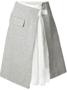 Sacai wrap skirt