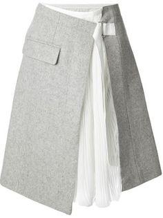 Sacai wrap skirt