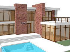 Vista Principal Casa Moderna #7 Planos de casa modernas Casas minecraft modernas Planta de casa moderna