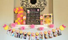 Rosa fiesta de cumpleaños de limonada por sweetheartpartyshop