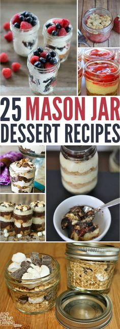 Looking for a list of delicious desserts for your next gathering? Check out these 25 Mason Jar Dessert Recipes that are not only delicious, easy to make, but they look super cute! - simplytodaylife.com via @SimplyTodayLife