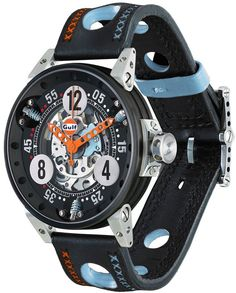 B.R.M. watch V6-44-SA Gulf Racing Limited Edition.