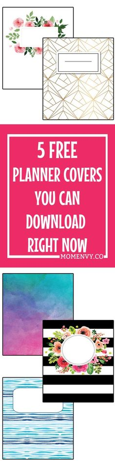 These printable binder covers are the perfect way to update your boring family binder. These cute binder covers would work great for planners or school notebooks as well! Happy Planner Cover, Free Planner, Printable Planner, Planner Stickers, Planner Covers, Free Printables, Planner Ideas, Planner Dividers, Filofax