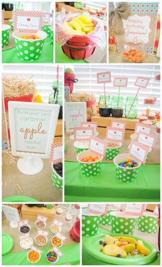 Perfect for Fall!  Apple Themed Birthday Party plus a Handy Shopping Guide