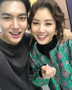 """Still like a son"", Lee Min-ho and Kim Seong-ryeong from ""The Heirs"" reunite"
