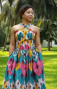 Vestido africano Bissa Ankara vestido / vestido de Ankara