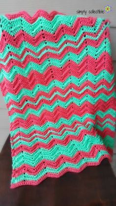 """I'm seriously falling in love with chevron again, but the texture in my free crochet pattern Chevron Flare blanket is what is really doing it. Note that this is a FREE crochet pattern complete with a sizing guide for Baby blanket (30"""" L x 24"""" W) up to King (76"""" W x 80"""" L), yarn amount suggestions, and convenient pdf for your personal stash."""