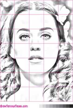 How to Draw Katy Perry Using a Grid: This grid image will help you to ...