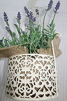 Amazon.com: Gorgeous French Style Wall Hanging Planter, Shabby Chic, Excellent French Look...!: Garden & Outdoor