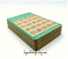 Vintage Transogram 10 Bingo Playing Cards Decor by JoyousVintage, $10.00