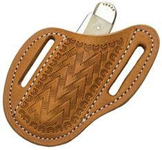Amazon.com : Leather Knife Sheath, Slanted Pancake Sheath, Tooled Leather Sheath, Belt Sheath, Leather Sheath for Knife : Sports & Outdoors