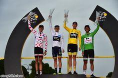 The 2017 Tour de France jersey winners