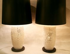 Reposed NY - In store now! Vintage pair of Blanc De Chin lamps  www.reposedny.com