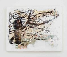 I've added a new encaustic painting to my shop . This painting is painted on a vintage map. The translucency of the white encaustic paint c...
