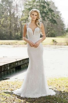 I THINK THIS IS THE DRESES!!!  LOVE  Lillian West - Style 6452: Fit and Flare Gown with Deep V-Neckline and Illusion Back