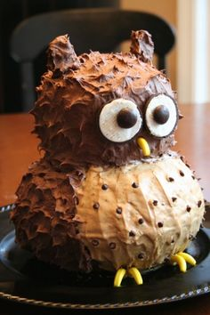 Really Easy Owl Cake Easy owl cake Owl cakes and Cake disasters