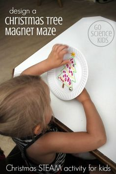 Make your own Christmas tree magnet maze game – fun STEM / STEAM / science project from Go Science Kids Science Activities For Kids, Steam Activities, Stem Science, Preschool Science, Baby Activities, Preschool Ideas, Experiments Kids, Science Ideas, Creative Activities