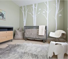 Nursery I could totaly see this for a little girl...with maybe some bright fabric leafs on the wall.  Not as sure about this one, depends on the room size and layout