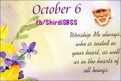 """Worship Me always, who is seated in your heart, as well as in the hearts of all beings.""     ‪#‎sairam‬ #shirdi #saibaba #saideva  ❤️ॐ❤️OM SAI RAM❤️ॐ❤️  Please share; FB: www.fb.com/ShirdiSBSS Twitter: https://twitter.com/shirdisbss Blog: http://ssbshraddhasaburi.blogspot.com  G+: https://plus.google.com/100079055901849941375/posts Pinterest: www.pinterest.com/shirdisaibaba"