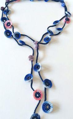 Collier de perles au crochet mixte style turc par GabyCrochetCrafts