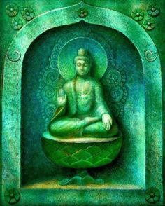 Méditation de poster Bouddha mural art par HalstenbergStudio