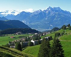I spent a semester abroad in college in this lovely tiny town.  Leysin, Switzerland