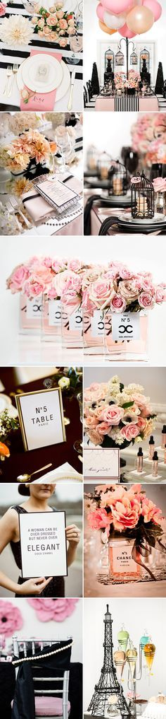 "Who doesn't like a little Coco Chanel? As spoken by Coco Chanel: ""a girl should be two things: classy and fabulous"", why not reflect this concept in your wedding and bring the Chanel spirit into your designs? There are many creative ways to show the classic and elegant style of Chanel. Think black and white, …"