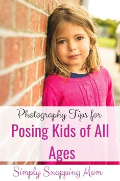 Never show up to a photo shoot lacking pose ideas. Steal my favorite 'go-to' pose ideas for kids of all ages! #photographytips #poseideas #posingkids #photographingkids