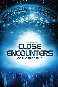 Close Encounters, a great film by Steven Spielberg. One of my favorites. Classic Sci Fi Movies, Best Sci Fi Movie, Epic Movie, Great Movies, Movie Tv, Movie List, Illuminati, Saving Private Ryan, Close Encounters