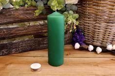 Κεριά Κυλινδρικά Πράσινα Φ6x20εκ Pillar Candles, Taper Candles