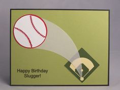 Stampin Up Handmade Greeting Card:  Baseball Birthday Card, Son, Grandson, Boy, Sports, Invitation, Thank You, Coach, Personalized, Custom