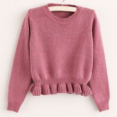 Wholesale Sweet Style Round Collar Long Sleeve Solid Color Women's Sweater Only $7.62 Drop Shipping | TrendsGal.com