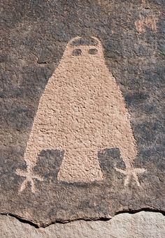 Owl Petroglyph in Kane Creek Canyon, Utah. Owl's are symbolic of wisdom. it is also the bird of Caladan