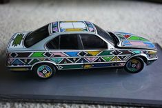 BMW Art car Museum Edition / Esther Mahlangu Minicar New Bmw 328i, Bmw M6, Canoga Park, 1964 Ford, Car Museum, Diecast Model Cars, Art Cars, Ebay