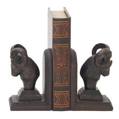 Cole & Grey Ram Head Book Ends