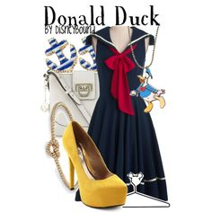"""Donald Duck"" by lalakay on Polyvore    Now I know what I'll wear to my Tusker House breakfast!"