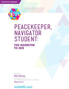 Free Whitepaper: The Future Role of the Marketer @incitemc