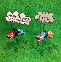 Two Conversation Ants by jodieflowers on Etsy, $40.00