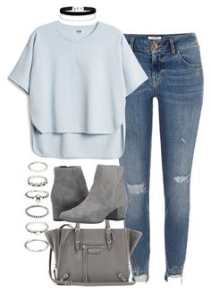 """""""Untitled #2041"""" by sarah-ihab ❤ liked on Polyvore featuring River Island, Balenciaga, Sam Edelman, Miss Selfridge and Forever 21"""