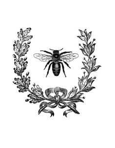 french wreath bee transfer graphicsfairy.pdf
