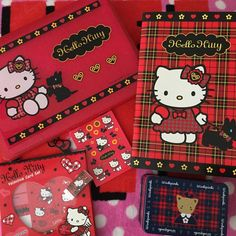 "52 Likes, 8 Comments - Lindy Mojica (Puerto Rico) (@linlan_kitty_land) on Instagram: ""Hello Kitty Large Plastic Case with large notebook, stickers & eraser(2003) HK Valentine Card Set.…"""