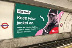 Spotify 放出的新年广告,是要给大家一堆 2018 年的年度目标