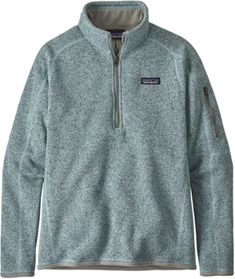 This soft quarter-zip fleece pullover features a handsome sweater-knit face and warm fleece interior. Like a sweater—only better. Men's Coats And Jackets, Jackets For Women, Patagonia Quarter Zip, Fleece Hoodie Women, Cool Sweaters, Crew Sweatshirts, Shirt Style, Casual Shirts