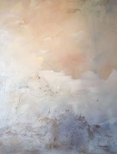 Abstract painting - Blushing Breeze 3. Blush and grey abstract painting.