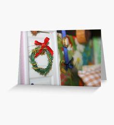 Yule Time  Greeting Card Christmas Art, Christmas Wreaths, Christmas Bulbs, Beard Winter, Snowy Trees, Winter Fairy, Winter Illustration, Green Palette, Winter Painting