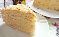 """Торт """"Крем-брюле""""    Кулинарные рецепты от «Едим дома!»"""